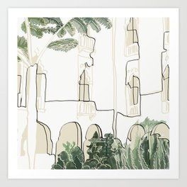 tropical architecture Art Print