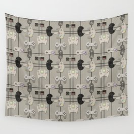 Paper Cut-Out Video Game Controllers Wall Tapestry
