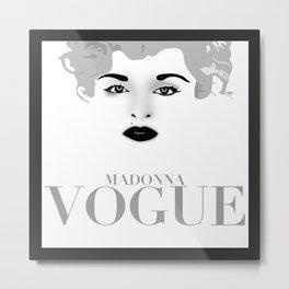 Madonna Vogue Metal Print