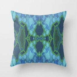 Art Nouveau Coastal Panel Throw Pillow