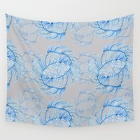 crystals Wall Tapestries featuring Crystals  by Becca Hardingham