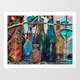 Bottle Collection Art Print