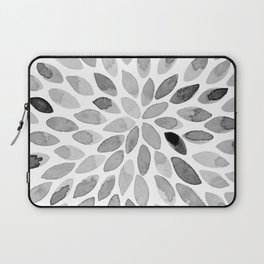 Watercolor brush strokes - black and white Laptop Sleeve