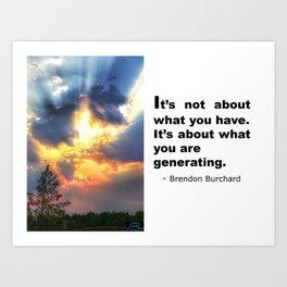 Positivity - Brendon Burchard Art Print