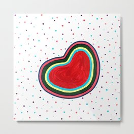 Our Jelly Bean Hearts Metal Print