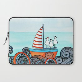 Seagull and little boat Laptop Sleeve