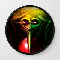 evangelion Wall Clocks featuring Sachiel the Risen. 3rd Angel of Evangelion Digital Painting by Barrett Biggers