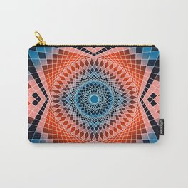 Mandala Sacred Geometry Red Blue Carry-All Pouch