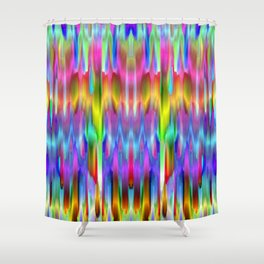 Colorful digital art splashing G488 Shower Curtain