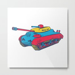 Good Lookout Toy Tank Metal Print