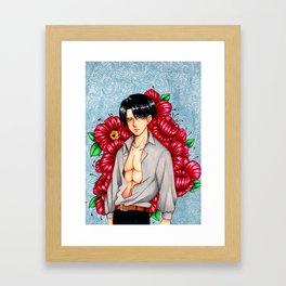 large print levi  Framed Art Print