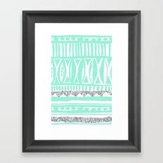 mint tribal & glitter Framed Art Print
