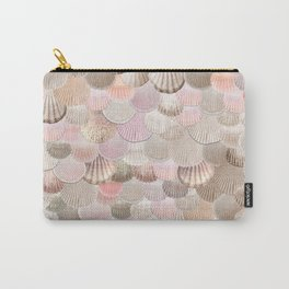 MERMAID SHELLS - CORAL ROSEGOLD Carry-All Pouch