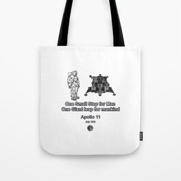 Space and the Moon Walk Tote Bag
