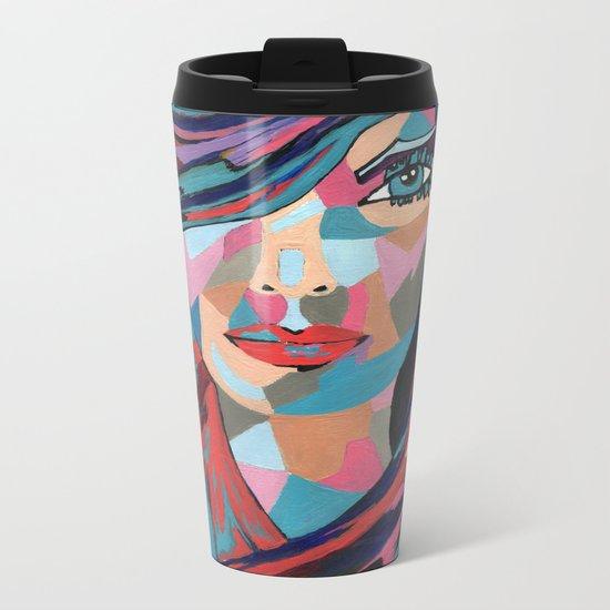 Psychedelic Jane Metal Travel Mug