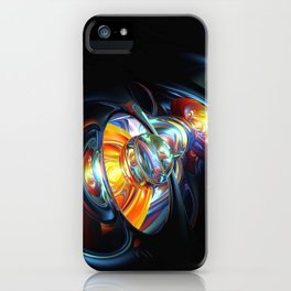 Abstract Spheres And Gravitational Waves 3D Ultra HD iPhone Case
