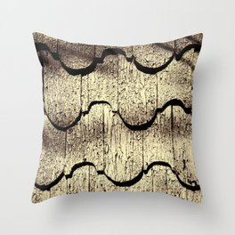 Cracked Paint on Shingles. Throw Pillow