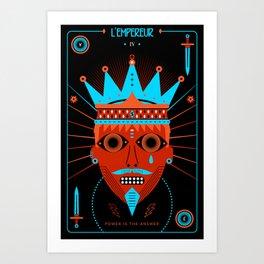 TAROT. IV- L´Empereur Art Print