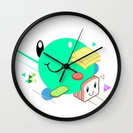 Tasty Visuals - Sandwich Time (No Grid) Wall Clock