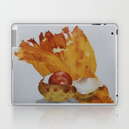 Autumn leaf and conker Laptop & iPad Skin