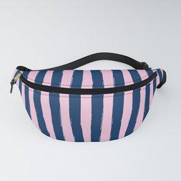Blue and Pink Cabana Stripes Palm Beach Preppy Fanny Pack