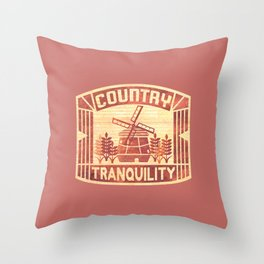 COUNTRY TRANQUILITY(Ver.2) Throw Pillow