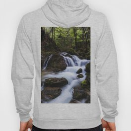 Magical waterfall in gorge Hell Hoody