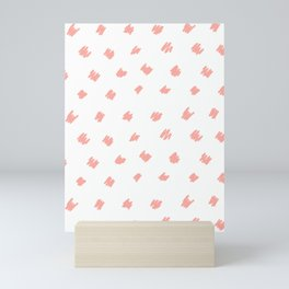 Squiggle Peach White Mini Art Print