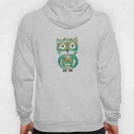Owl Fun #4 #mint #green #gold #drawing #decor #art #society6 Hoody