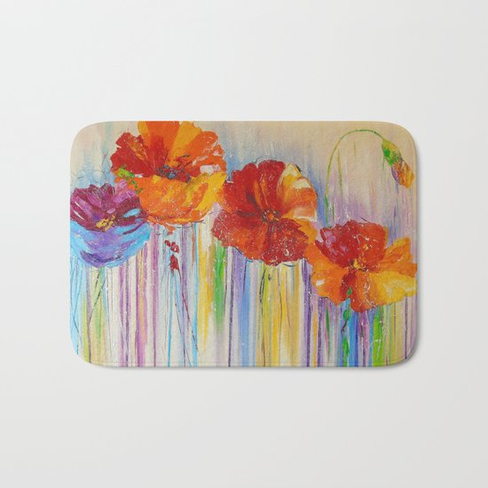 Flower abstraction Bath Mat