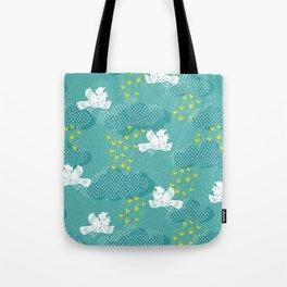 Rain Birds - Teal Tote Bag