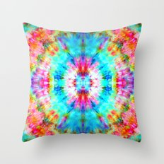Rainbow Sunburst Throw Pillow