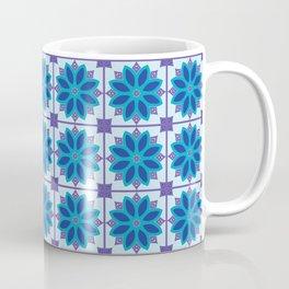 Mediterranean Tile Pattern blue and purple Coffee Mug
