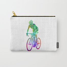 Woman triathlon cycling 05 Carry-All Pouch