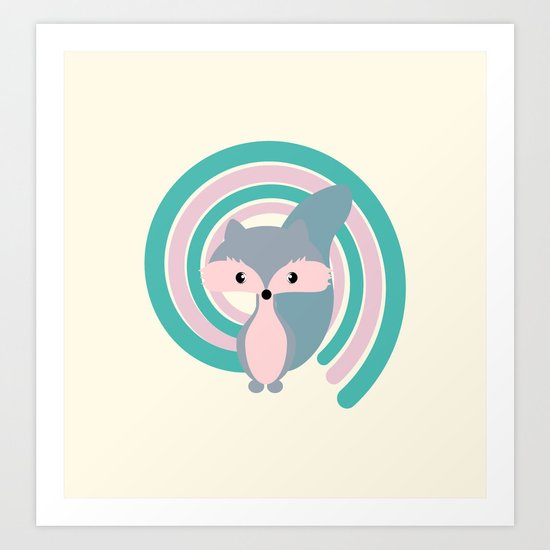 Silver fox Art Print