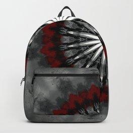 RubyRed and Silver Mandala Backpack