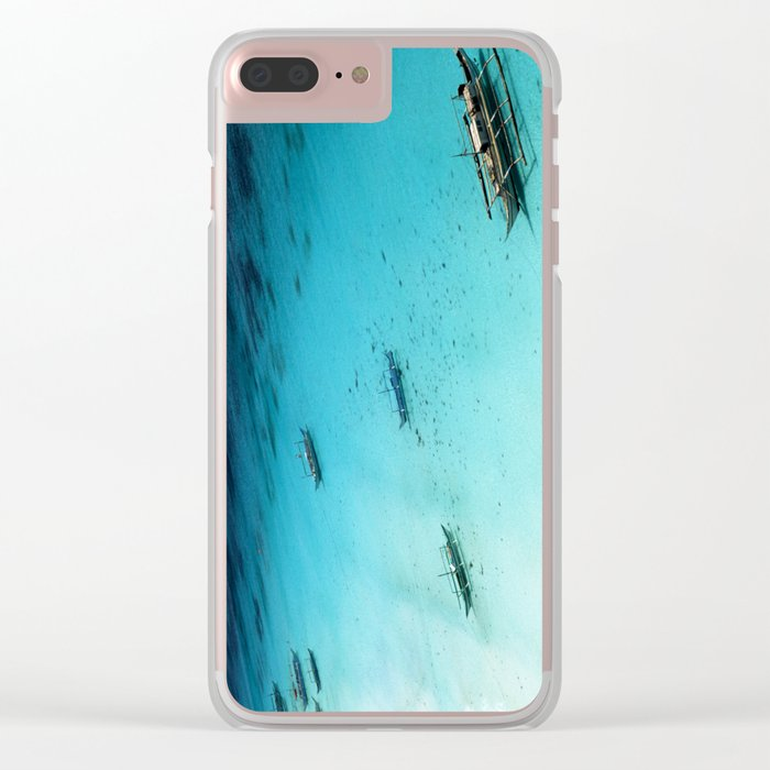 White Beach Boracay Clear iPhone Case