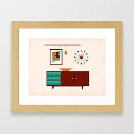 Mid-Century Modern Living - Sideboard Framed Art Print