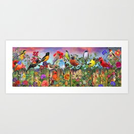 Birds and Blooms Art Print
