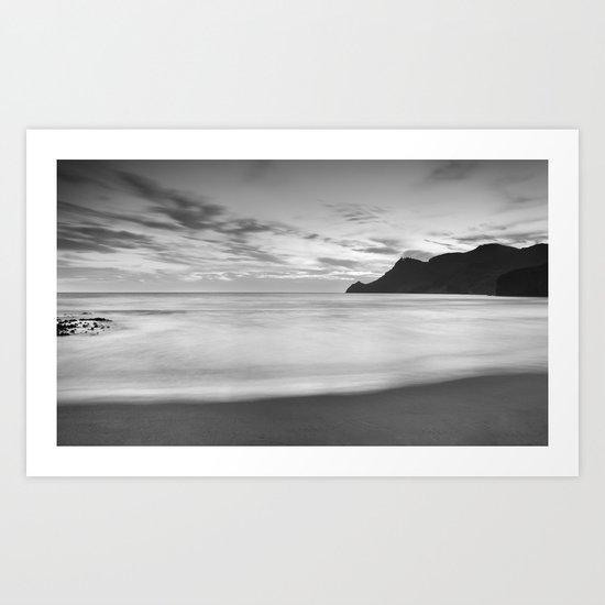 Silver sea. BN Art Print