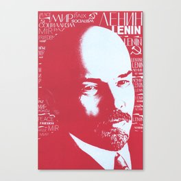 Russia, URSS Vintage Poster, Lenin Canvas Print