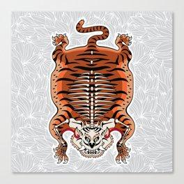 TIBETAN TIGER - SKELETON (white) Canvas Print