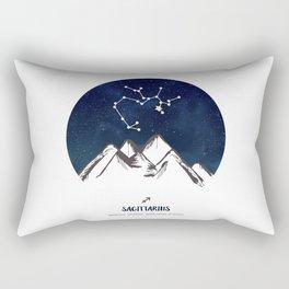 Astrology Sagittarius Zodiac Horoscope Constellation Star Sign Watercolor Poster Wall Art Rectangular Pillow
