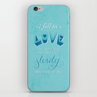 tfios iPhone & iPod Skins featuring TFIOS: Fell in Love by Jess Matthews Design