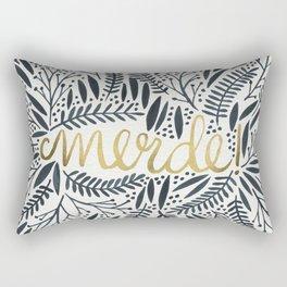 Pardon My French – Black & Gold Rectangular Pillow