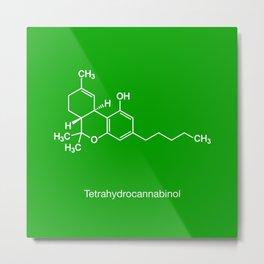 Tetrahydrocannabinol Metal Print