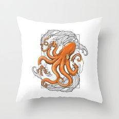 Hexapus Ink 3 Throw Pillow