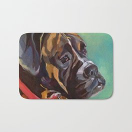 Boxer Dog Keeley Pet Portrait Bath Mat