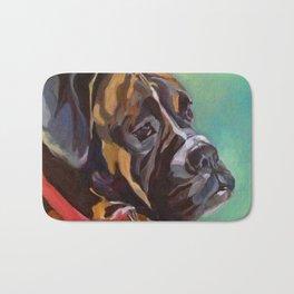 Boxer Dog Keeley Pet Portrait Bath Mat