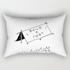 Pay for soup, build a fort, set that on fire Rectangular Pillow